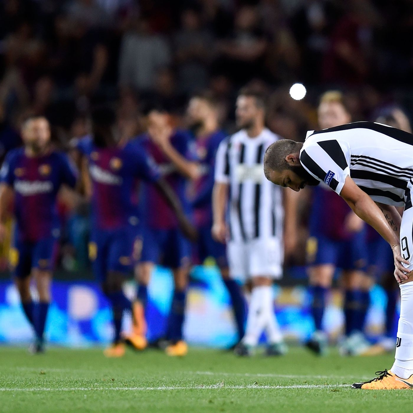 barcelona vs juventus 2017 final score 3 0 shorthanded juve out classed in loss to barca black white read all over barcelona vs juventus 2017 final