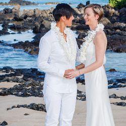 Competitive swimmer turned coach Abi Liu wed KR Liu on Maui's Makena Beach on August 8, 2015.