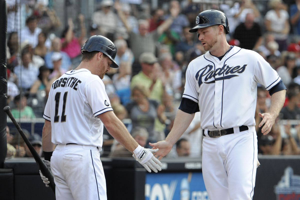 Both Forsythe and Headley look very similar.  Has anyone noticed this?  They could be brothers.  They are also playing very good baseball lately.  (Photo by Denis Poroy/Getty Images)