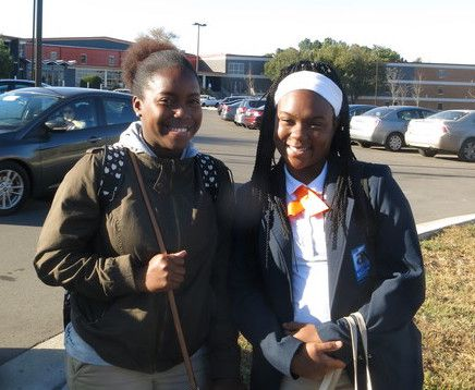 From left: Terra Flye and Shantorianna Forte are student body officers at Nashville's Stratford High School.
