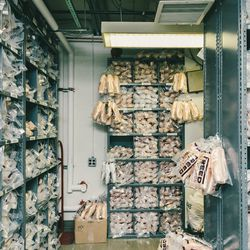 The shoe room, staffed by a single full-time employee, is where dancers keep spare pairs of pointe shoes, all of which are handmade and shipped from London. Principal dancers like Sara Mearns have an entire column all to themselves, as shoes can sometimes