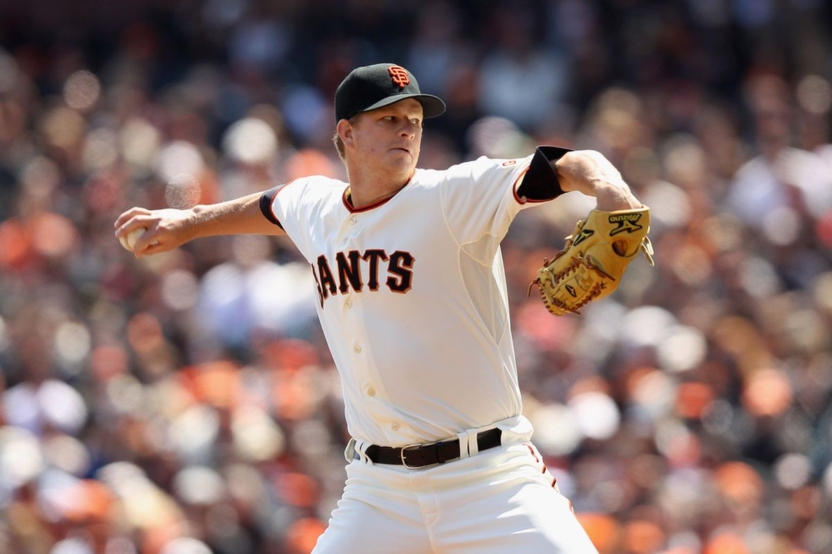 SAN FRANCISCO, CA - APRIL 13:  Matt Cain #18 of the San Francisco Giants pitches against the Pittsburgh Pirates at AT&T Park on April 13, 2012 in San Francisco, California.  (Photo by Ezra Shaw/Getty Images)