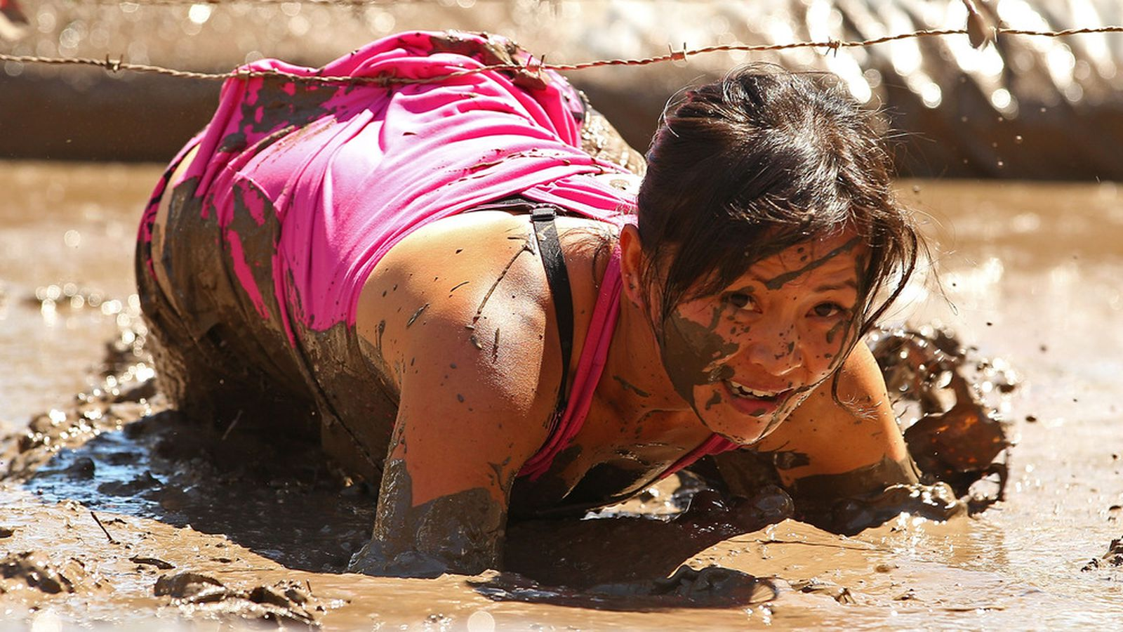 Westerns movie girl dragged in mud — 9