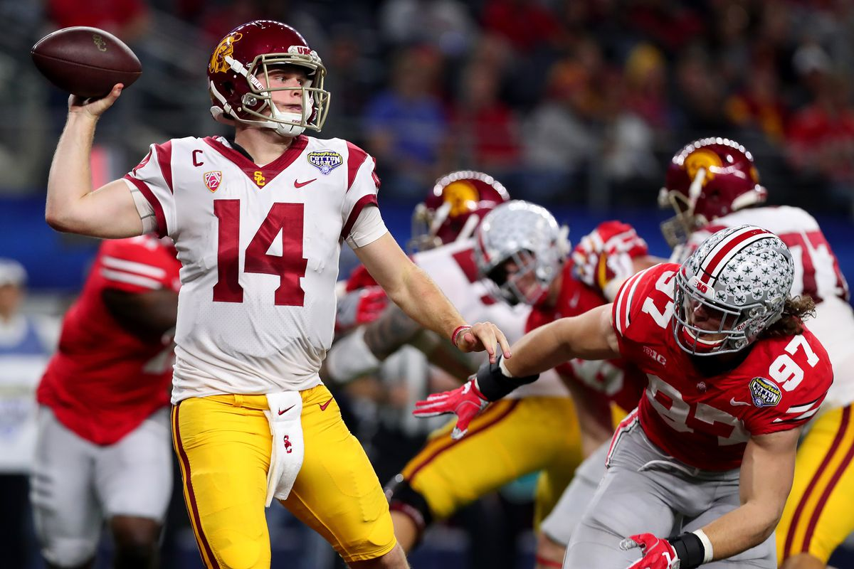 4a6db7bd89 2018 QB spotlight  The good and the bad of Sam Darnold - Big Blue View