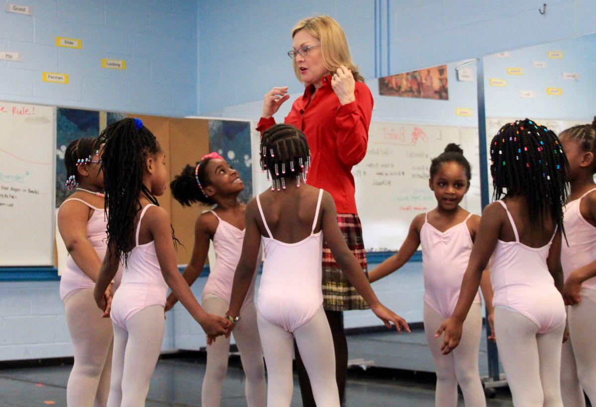 New Ballet founder Katie Smythe brought ballet to Dunbar Elementary in 2009.