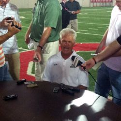 Kerry Coombs, ever energetic.