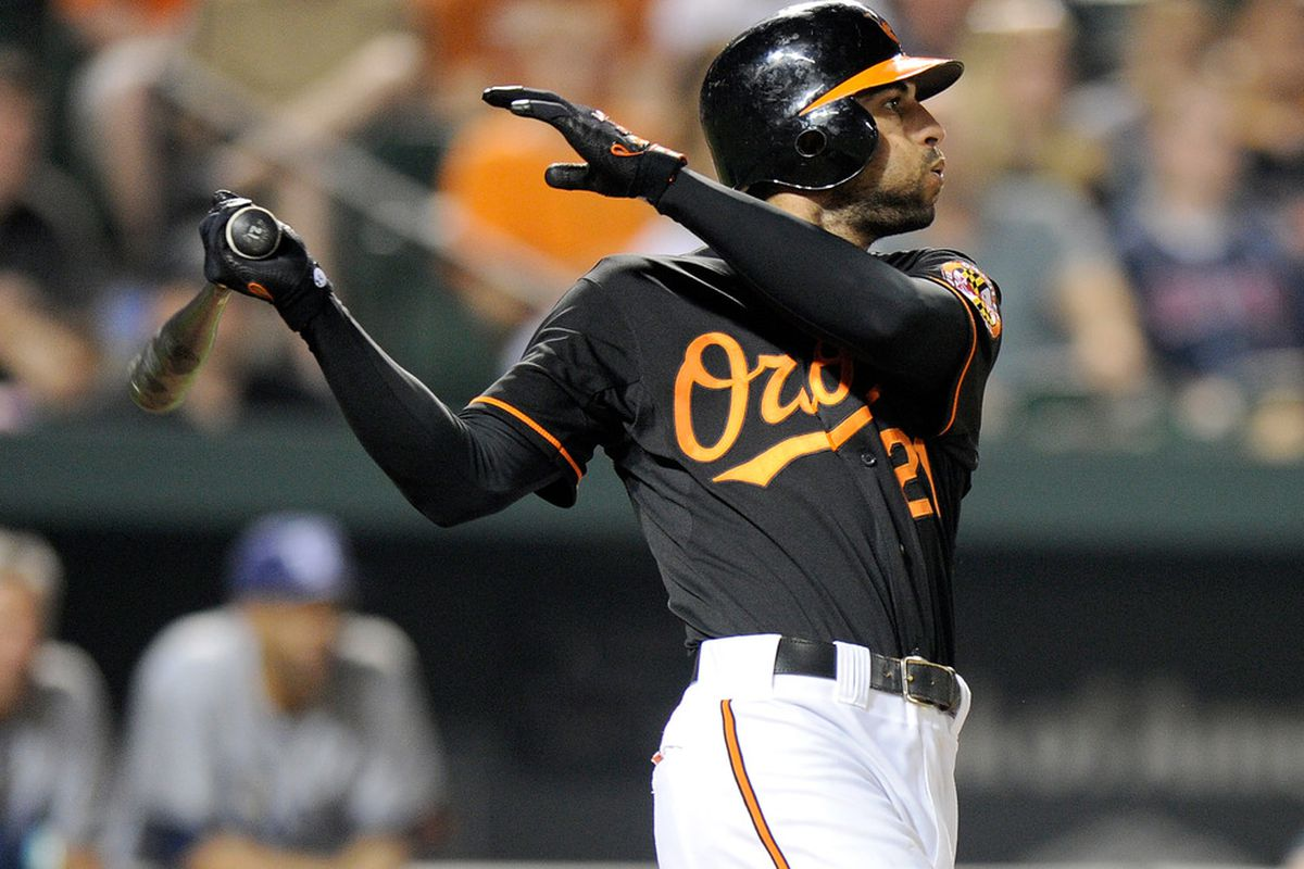 Nick Markakis will lead off in today's game