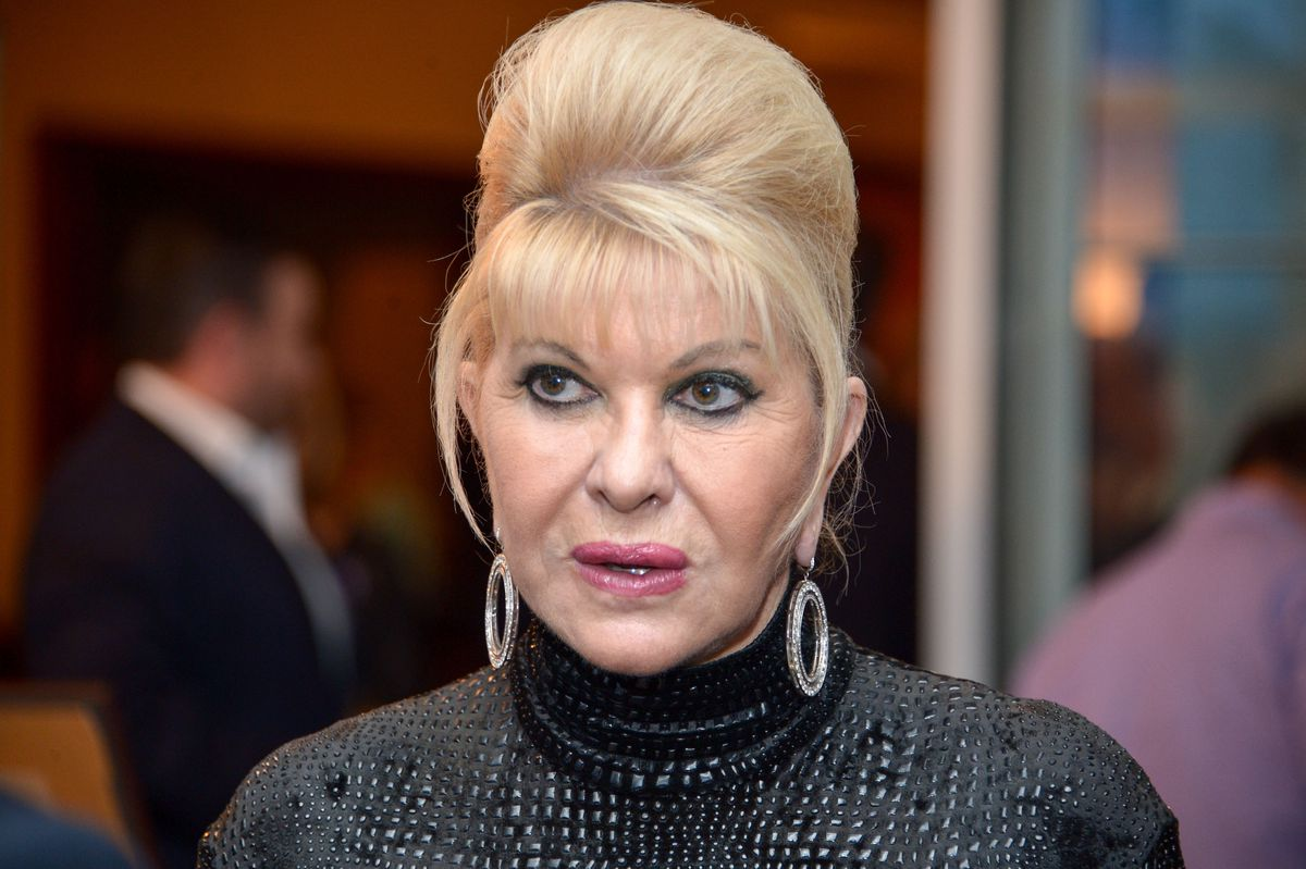Ivana Trump at a dinner benefiting her son's foundation