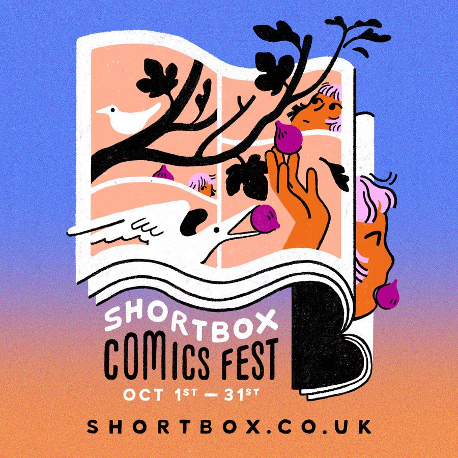 The logo for Shortbox Comics Fest.