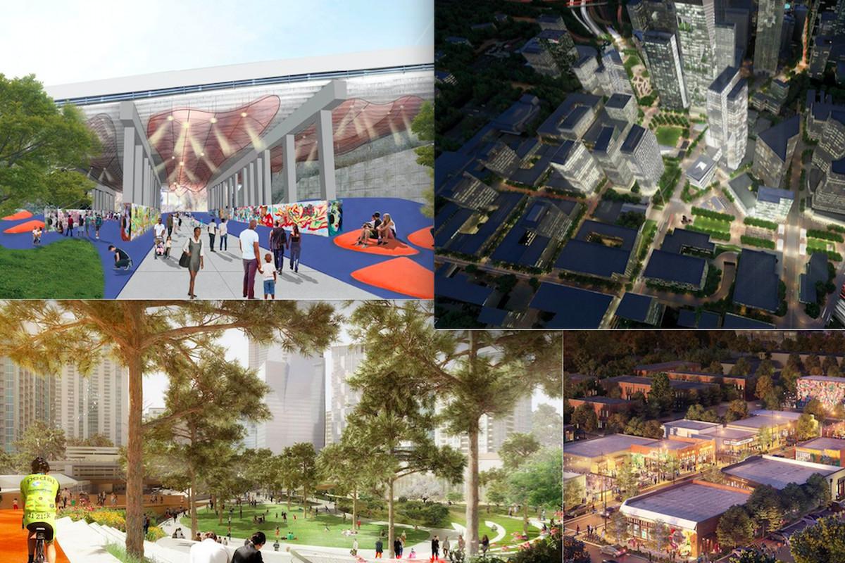 Renderings showing various project around Atlanta.