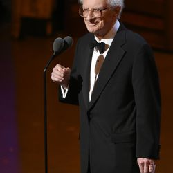 Sheldon Harnick accepts the special Tony Award for lifetime achievement at the Tony Awards in New York on June 12, 2016.