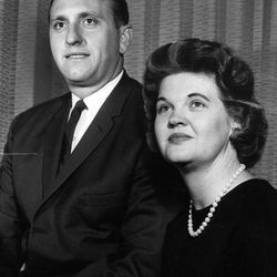 President Thomas S Monson and his wife, Frances, in 1965.