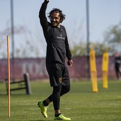 Real Salt Lake's Marcelo Silva trains during the first day of voluntary individual training at the RSL Academy on Thursday, May 7, 2020.