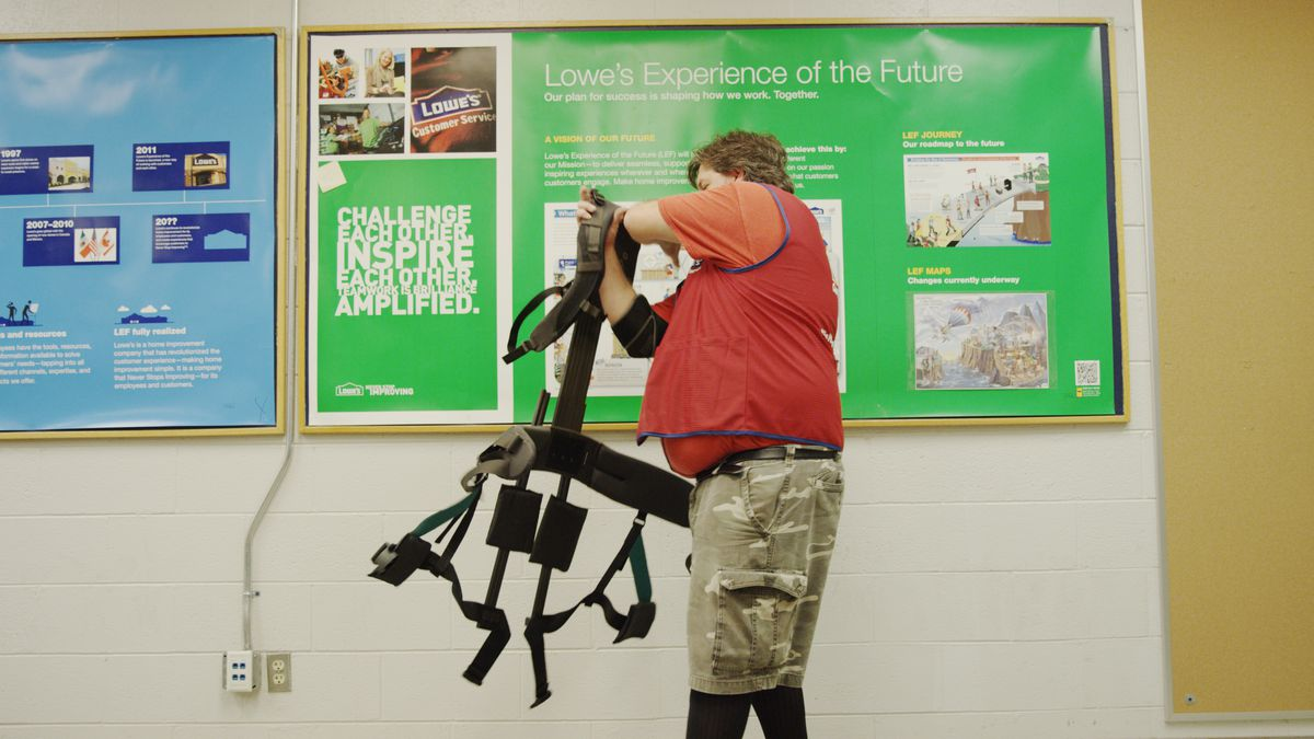 Lowe's prototype exoskeletons give warehouse workers a boost