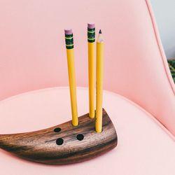 "Fort Makers walnut pencil holder, <a href=""http://www.comingsoonnewyork.com/comingsoon/fort-makers-walnut-pencil-holder"">$70</a>"