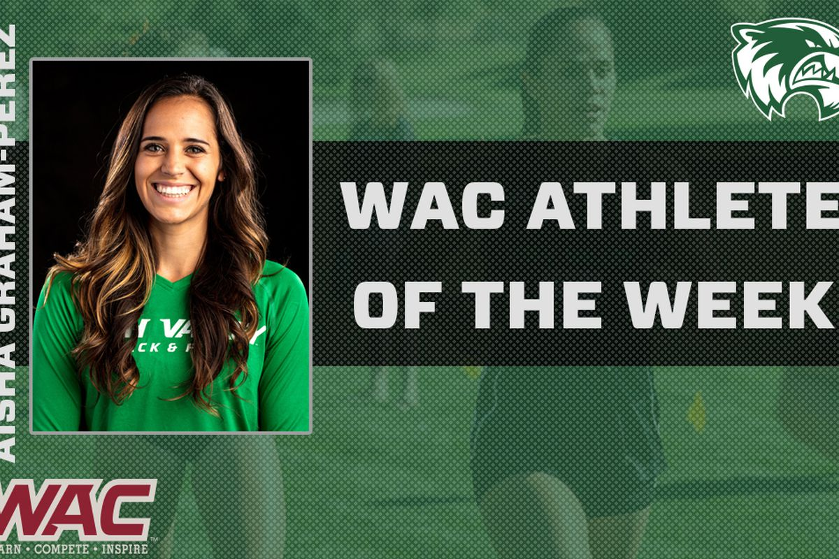 Utah Valley senior distance runner Aisha Graham-Perez was named the WAC Women's Cross Country Athlete of the Week after leading UVU at the SUU Color Country Invitational last weekend with an eighth-place finish.