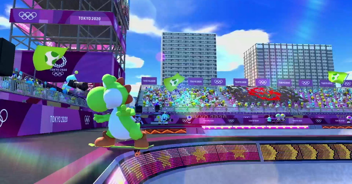 Mario & Sonic at the Tokyo 2020 Olympics gameplay shows off Yoshi skating