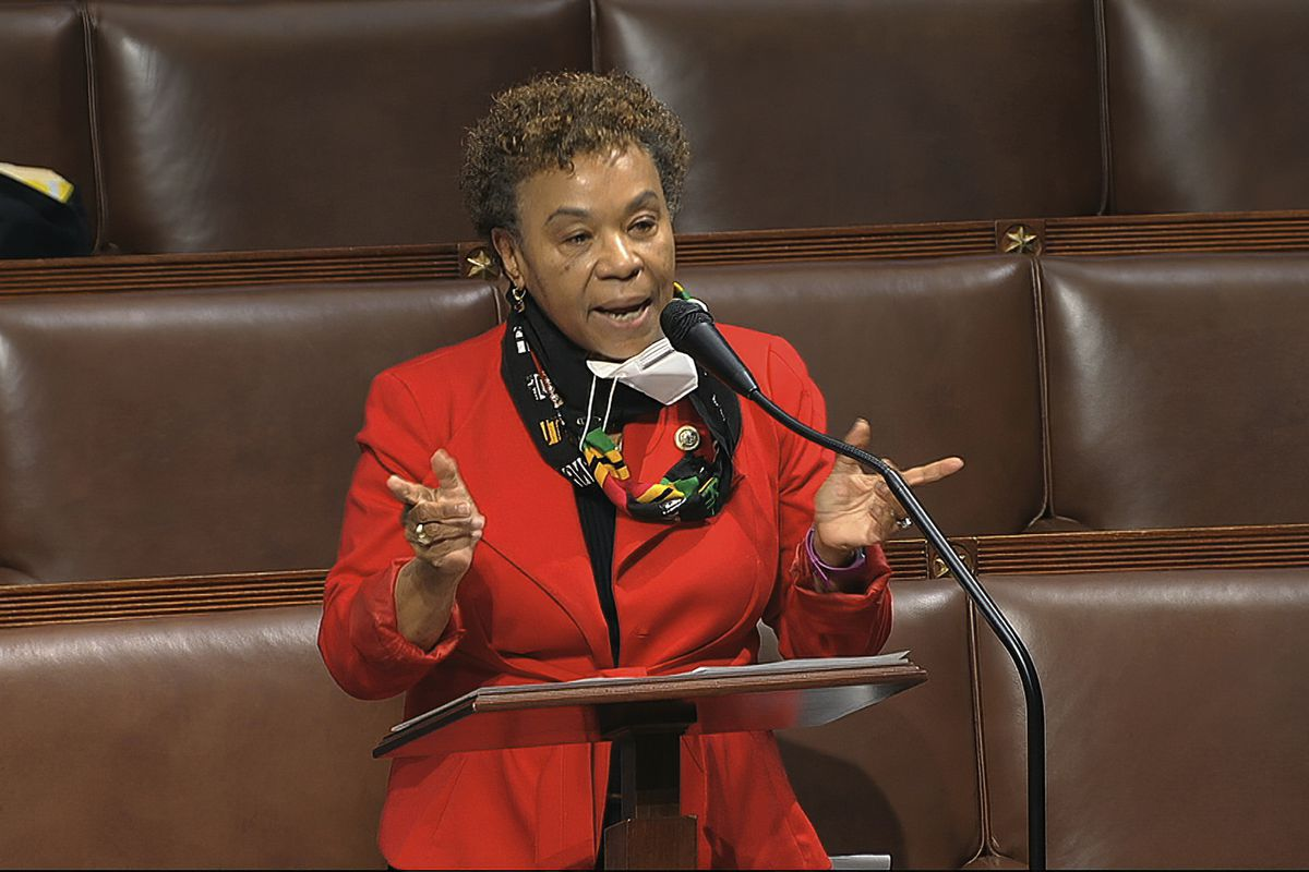 In this April 23, 2020, file image from video, Rep. Barbara Lee, D-Calif., speaks on the floor of the House of Representatives at the U.S. Capitol in Washington. The Democratic-led House, with the backing of President Joe Biden, is expected to approve legislation Thursday, June 17, 2021, to repeal the 2002 authorization for use of military force in Iraq.