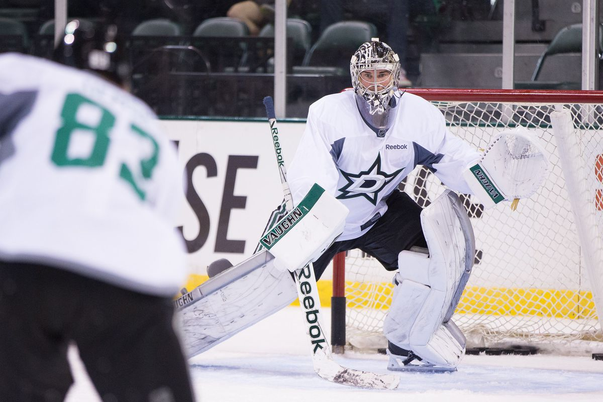 Jack Campbell in Dallas Stars training camp this year in Cedar Park