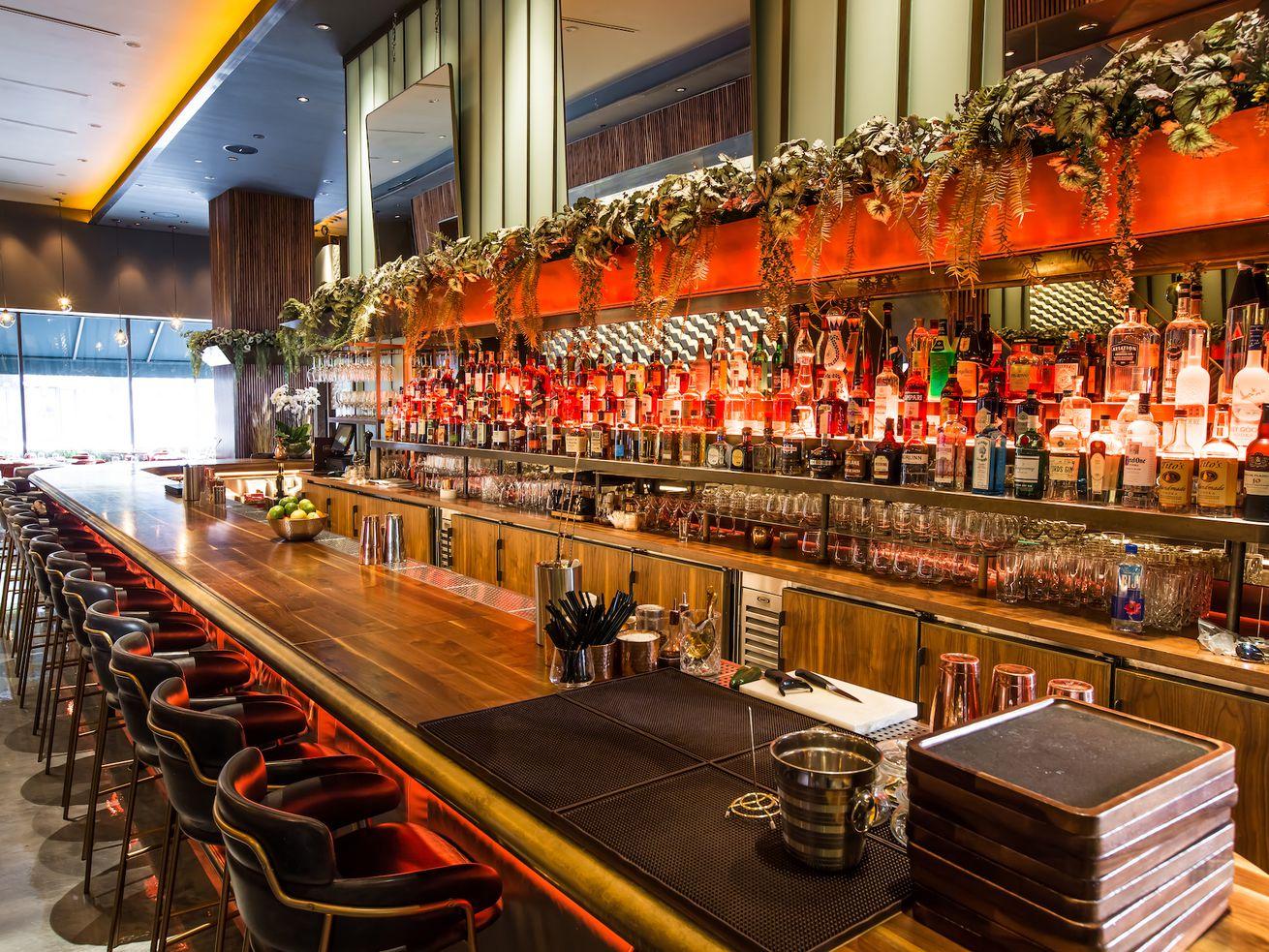 The bar at Le Grand