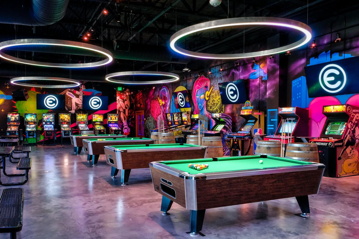 Pool tables and video games