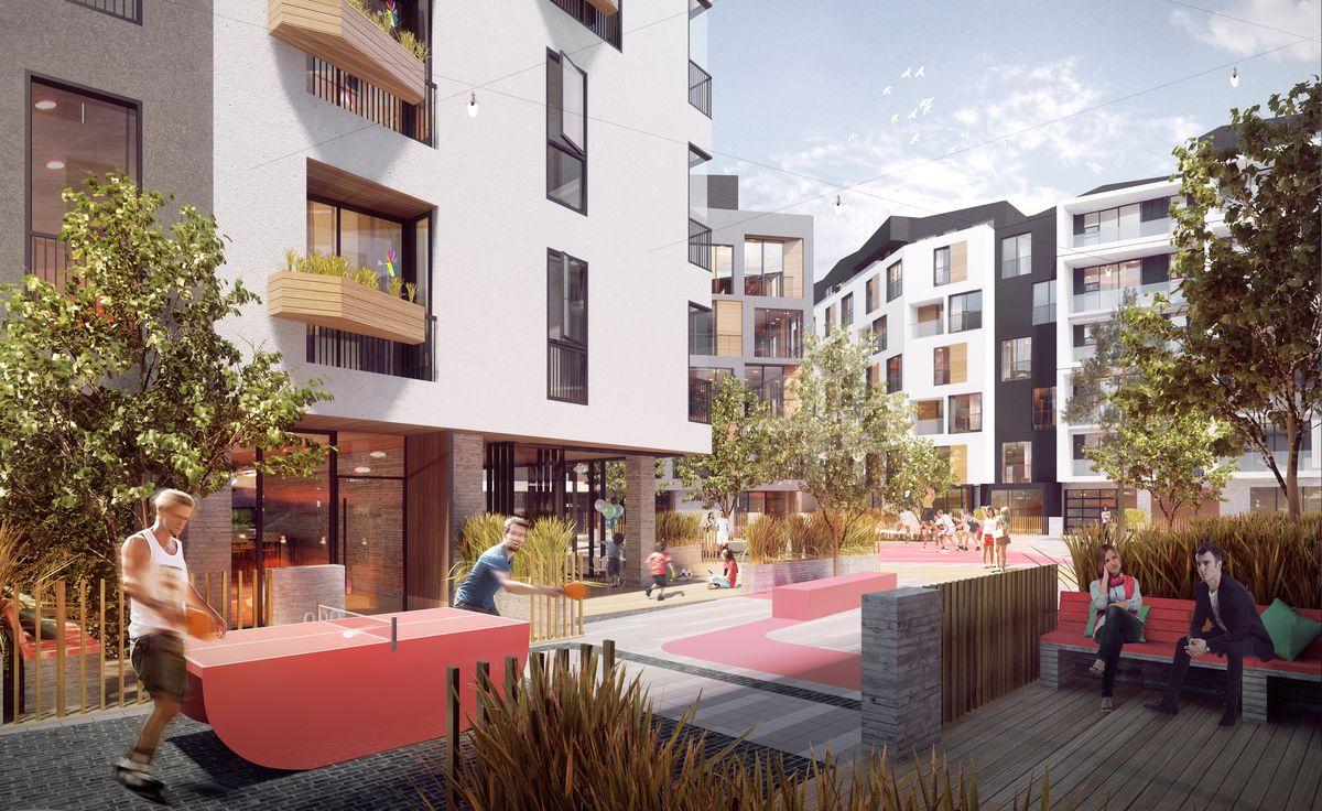 Bristol parkway community area rendering