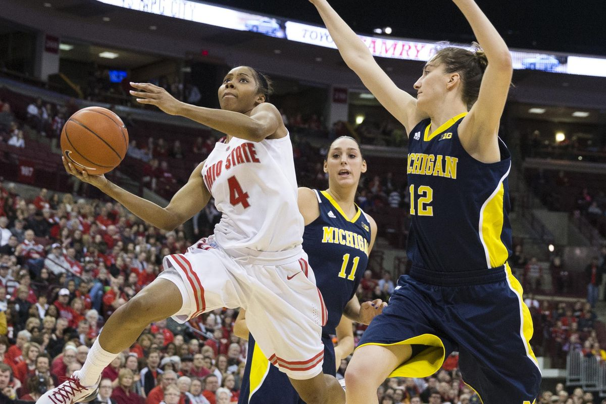 """By any chance could this """"Logowoman"""" come from the silhouette of a pro player when she was in college?  Sorry Michigan fans for another """"despicable"""" picture."""