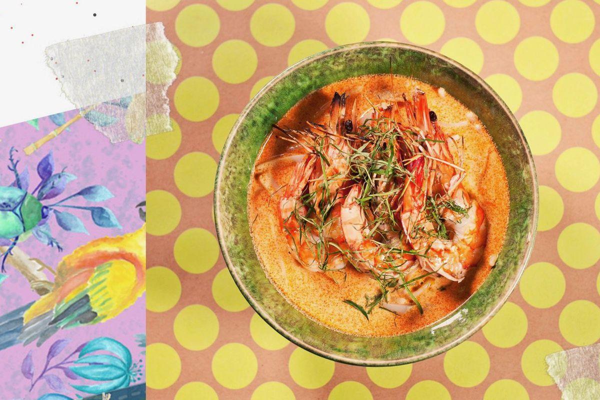 Singaporean laksa from Singapulah & Arôme, a new Soho restaurant and bakery in London