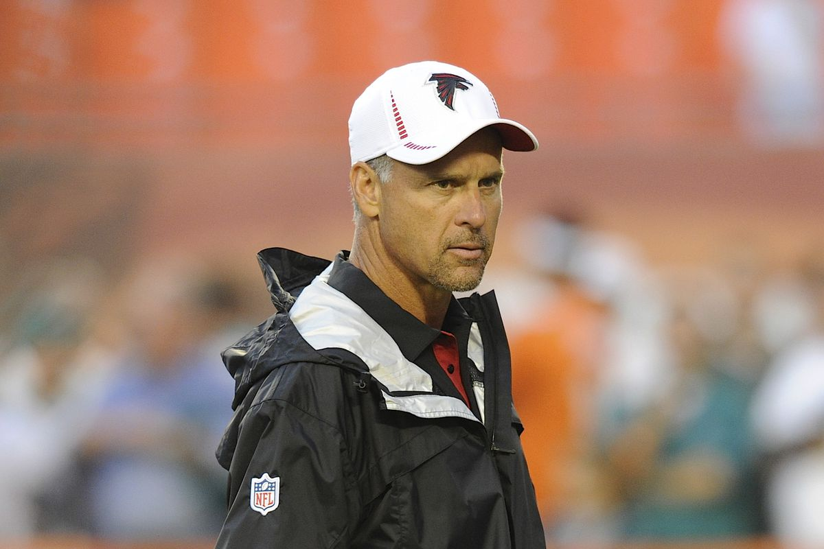 Still the defensive coordinator for the Atlanta Falcons, but I can't explain why.