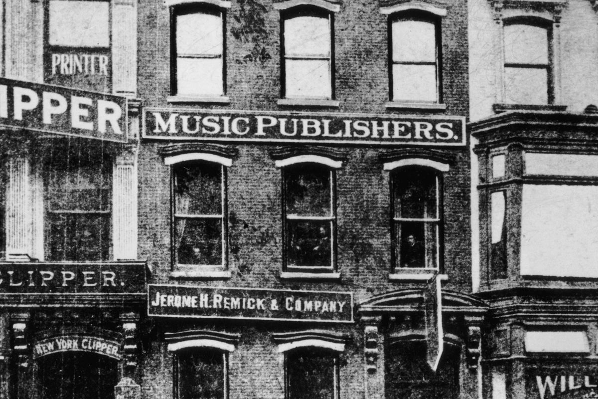 Tin Pan Alley in 1905.
