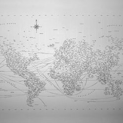 For your college-age brother who's going to travel the world someday, an exquisite map. Typographic Map, $150, Design Ahoy