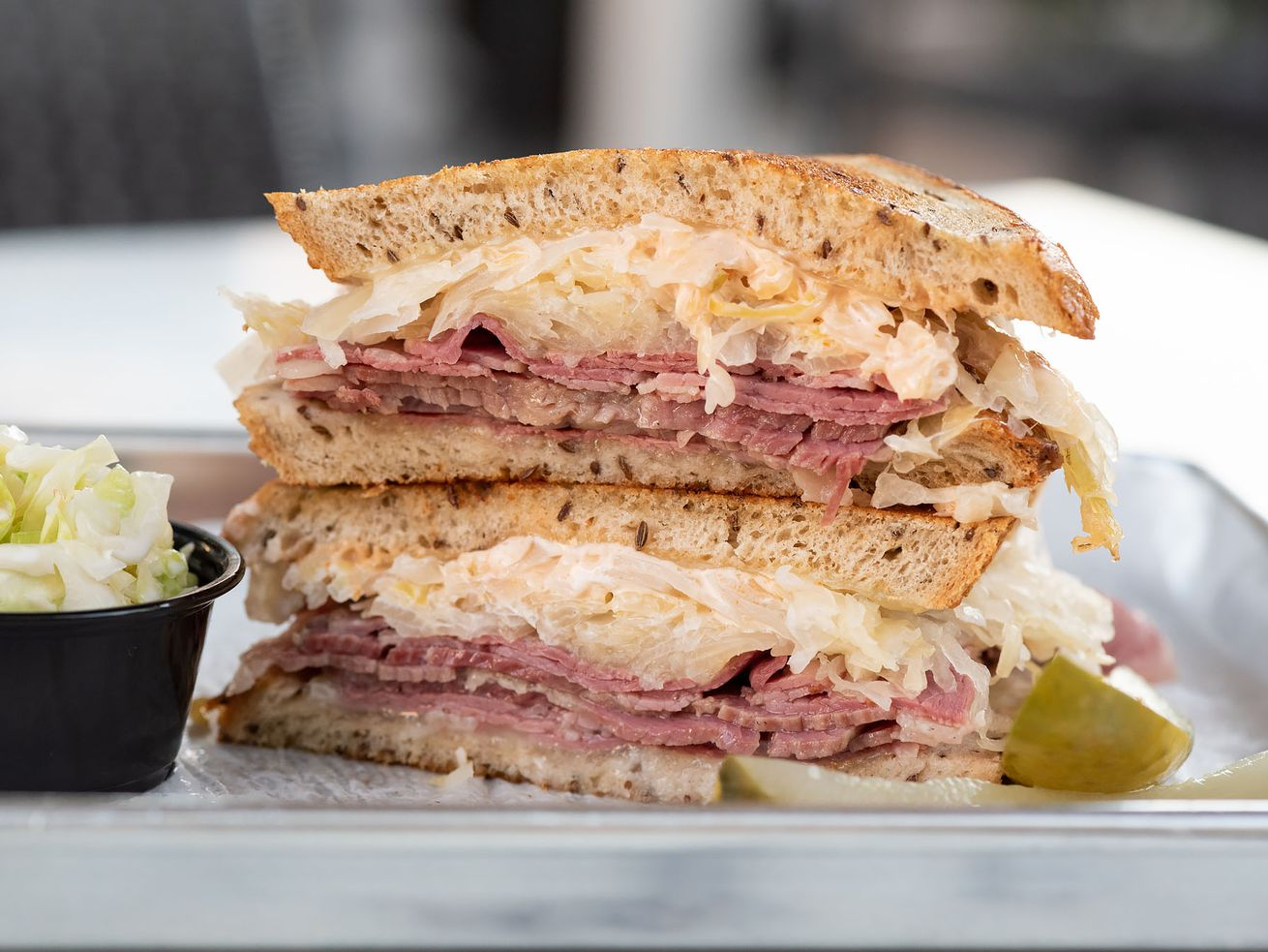 "Grilled reuben, also known as the ""Nana,"" at Daughter's Deli"