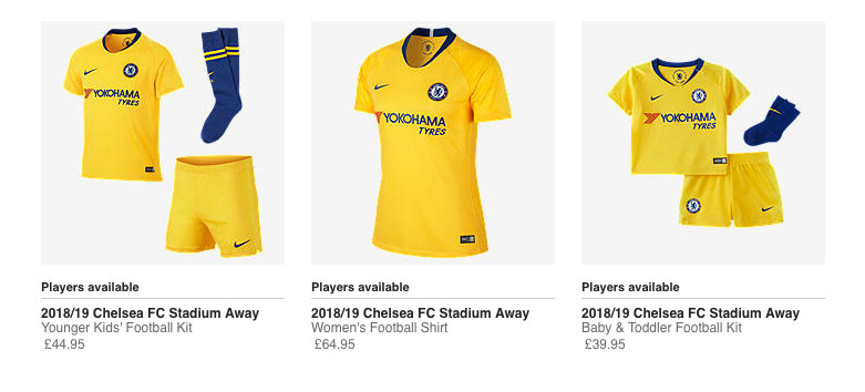 online store 0a4a9 6d0f7 Nike and Chelsea launch gloriously yellow 2018-19 away kit ...