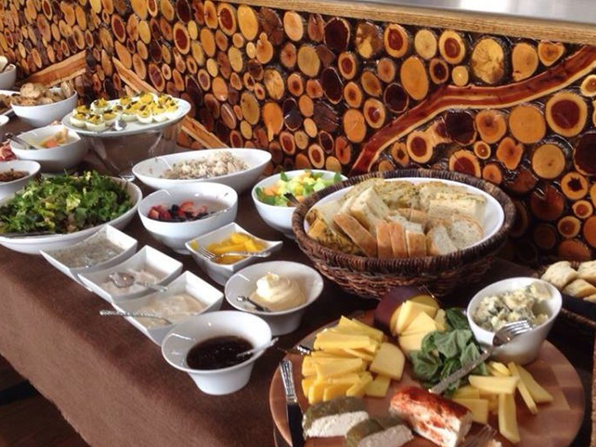 Brunch spread at 60 Degrees Mastercrafted