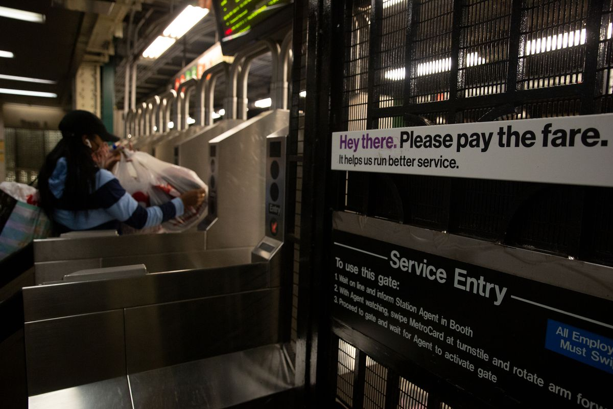 The MTA implores riders to not sneak into the subway, Sept. 16, 2020.