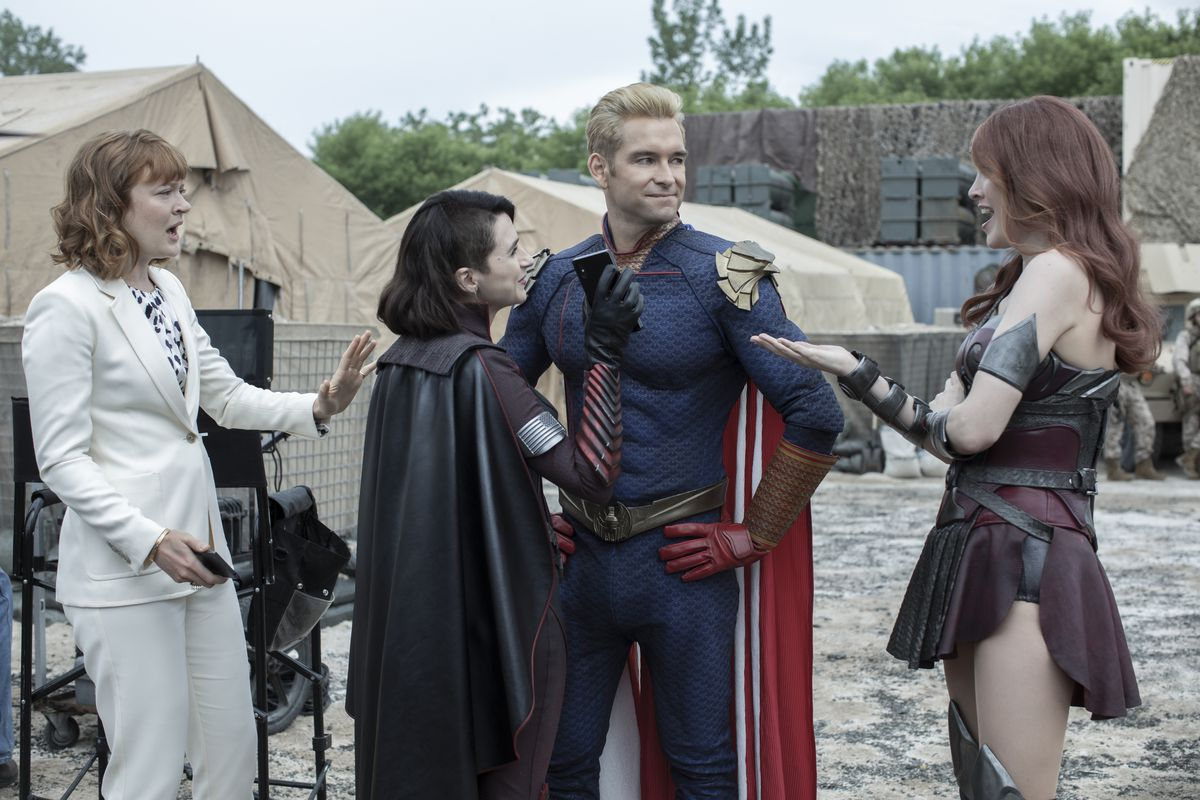 the boys season 2: Homelander and Stormfront talk to their publicist