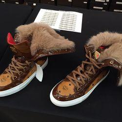 Women's fur sneakers, $342 (were $855)