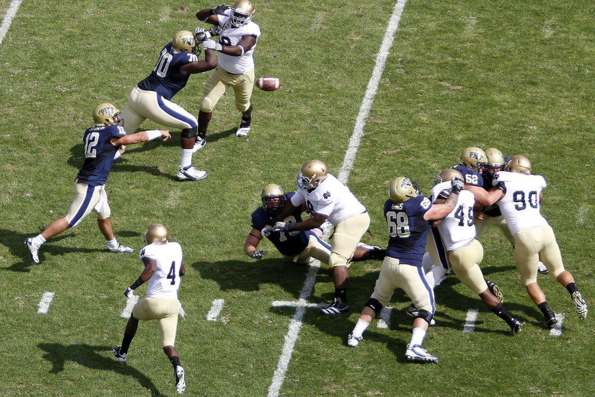 Juantez Hollins' suspension puts Pitt in a bind (Photo by Justin K. Aller/Getty Images)