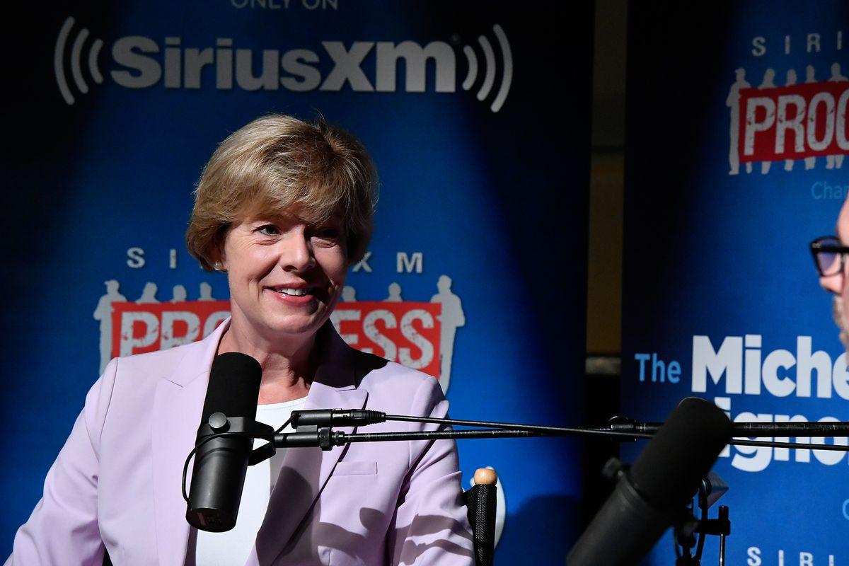 Senator Tammy Baldwin Talks With SiriusXM Host Michelangelo Signorile During A Town Hall Event In Washington, D.C.