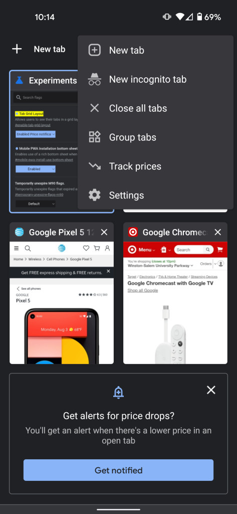 Google is developing a price tracking feature for Chrome on Android