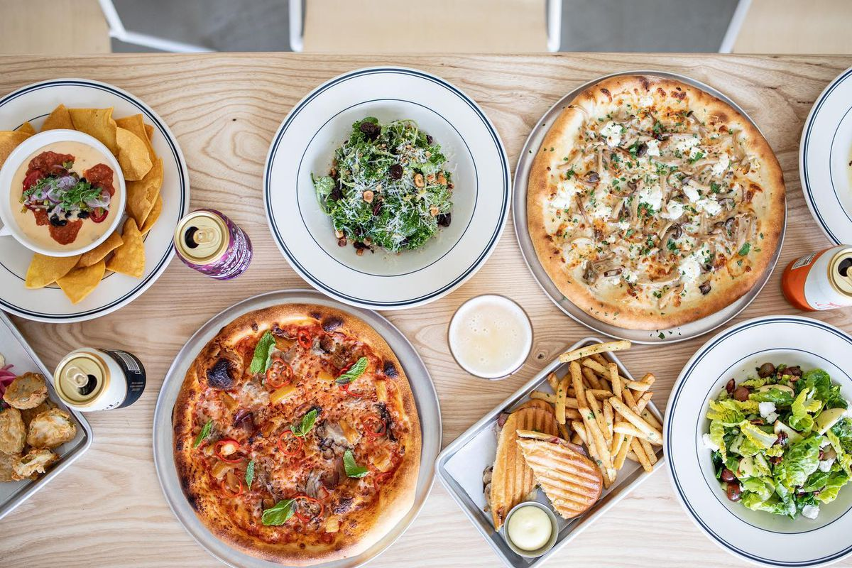 Dishes and ciders from Austin Eastciders's new restaurant