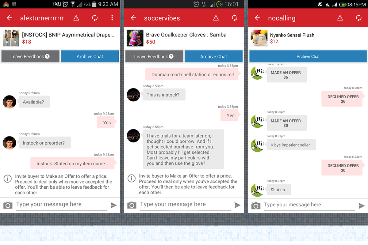 Carousell buyers and sellers submit their aggravating message thread haggles to a site called Carouhell.