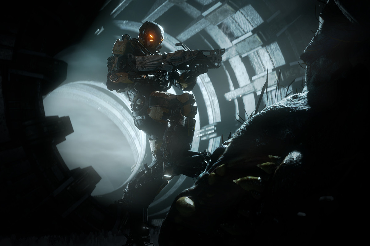Anthem: Ranger Javelin in a cave