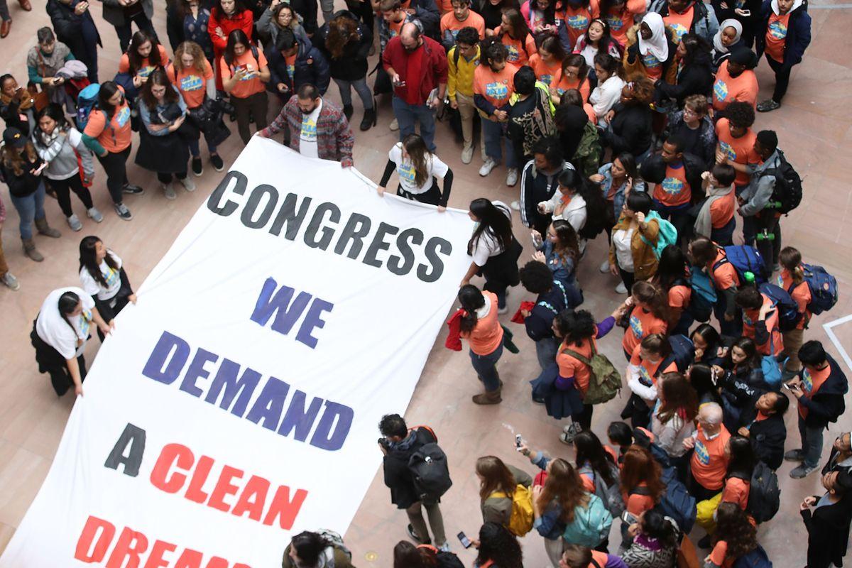 DREAMer Protestors Flood Hart Senate Office Building