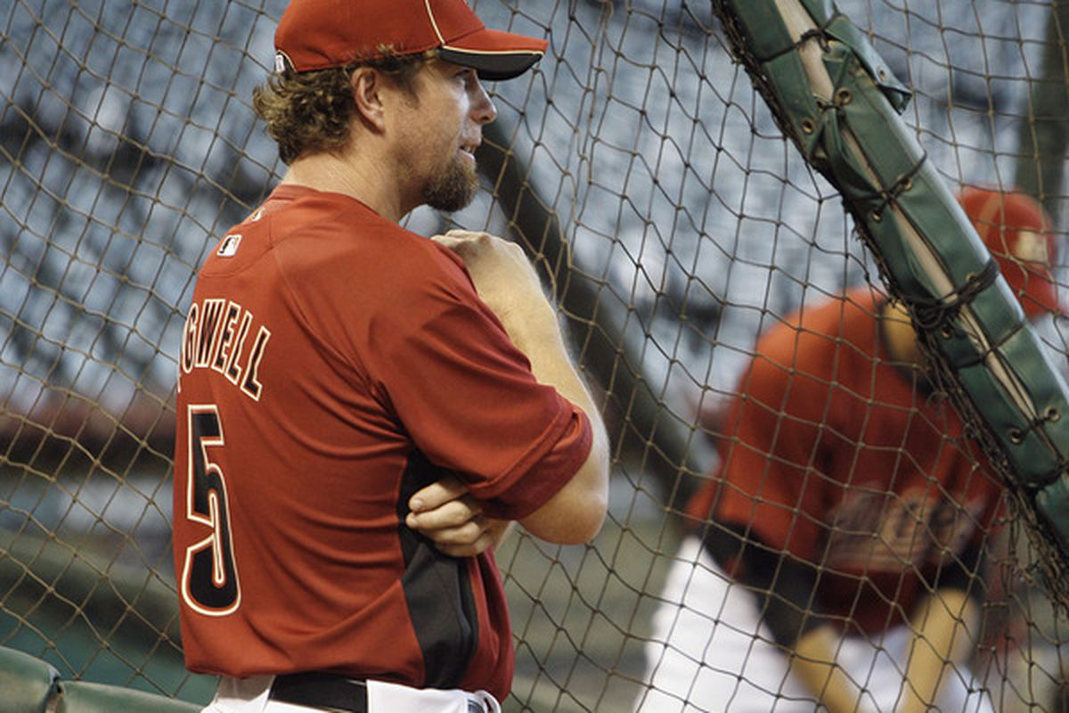 HOUSTON - JULY 23:  Houston Astros hitting coach Jeff Bagwell looks on during batting practice before the Houston Astros play the Cincinnati Reds at Minute Maid Park on July 23 2010 in Houston Texas.  (Photo by Bob Levey/Getty Images)