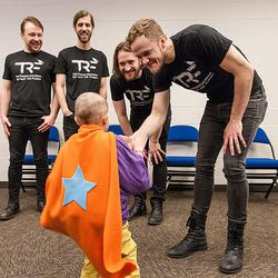 Imagine Dragons meets Ben Morris, a young cancer fighter and grantee of the foundation.