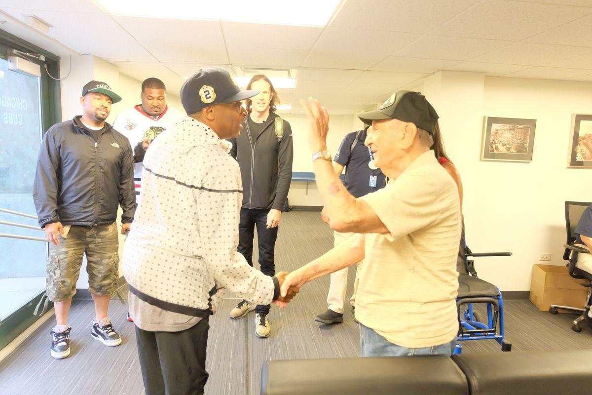 "WWII veteran Arnie Massier met Spike Lee in Chicago when the filmmaker was shooting ""Chi-Raq."""