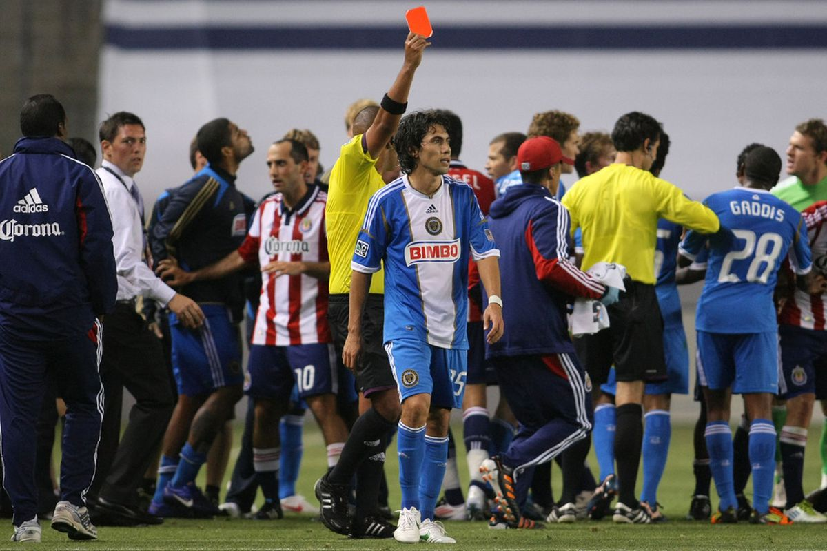 CARSON, CA - APRIL 21:  You're welcome, San Jose: Garfan and Daniel won't be playing the Quakes next week (Photo by Victor Decolongon/Getty Images)
