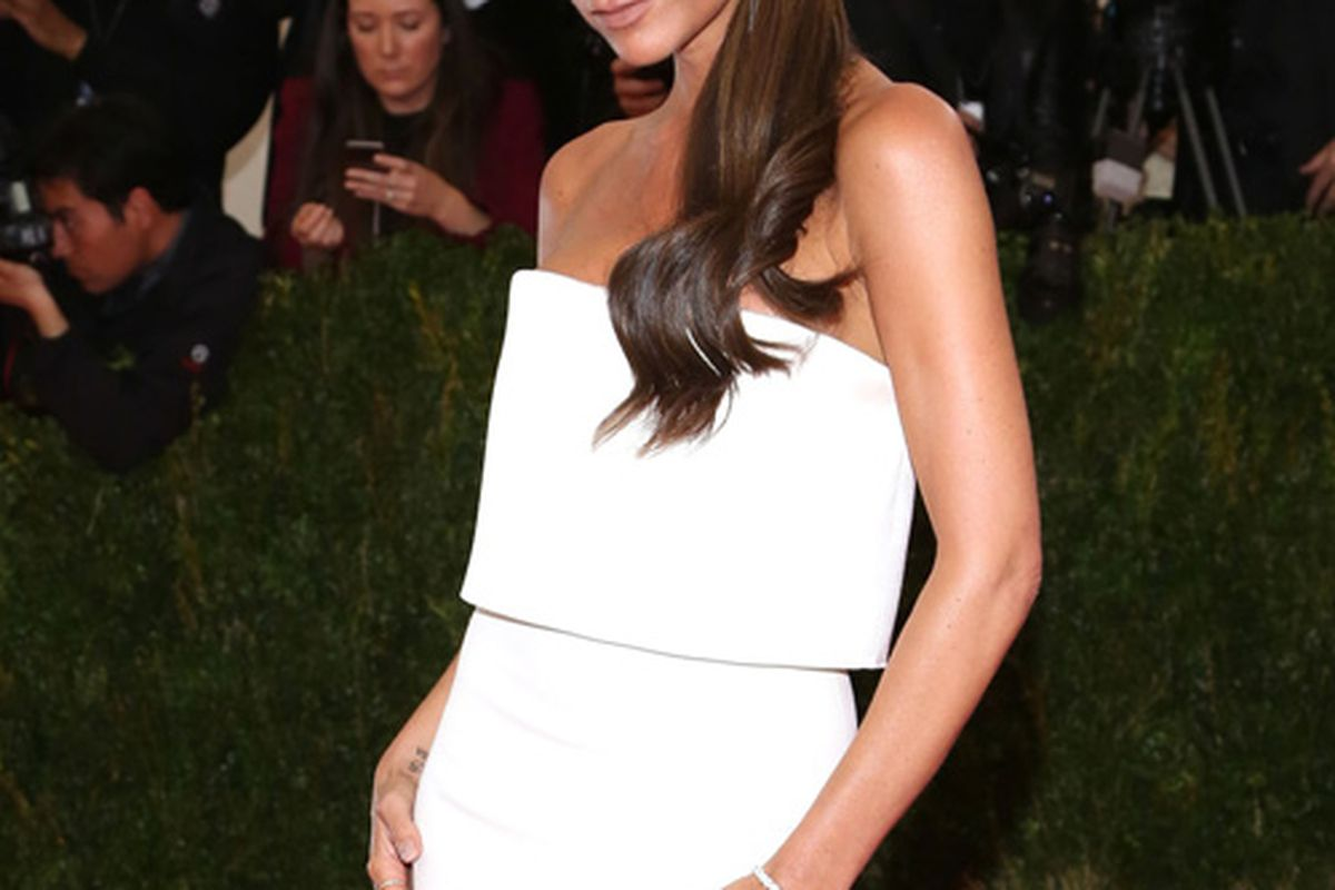 Victoria Beckham at the Met Ball in NYC last month. Image via FameFlynet