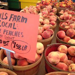 Peaches are in season now near Brigham City.